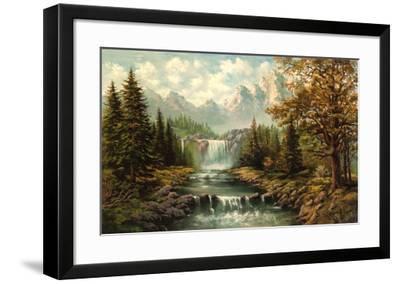 Waterfall II-Ada & Kris-Framed Art Print