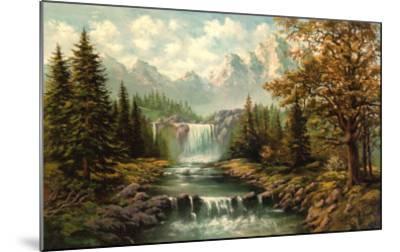 Waterfall II-Ada & Kris-Mounted Art Print