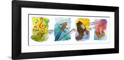 Musical Accents II-A^ Almeida-Framed Art Print