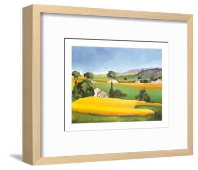 Summer in Provence IV-L. Vallet-Framed Art Print