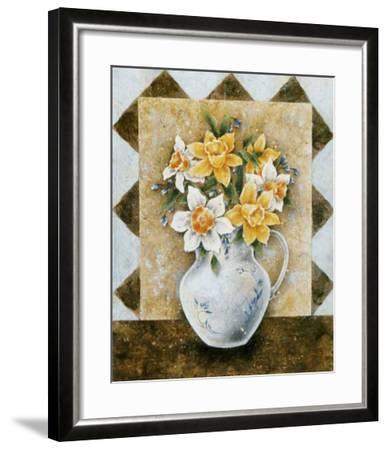 Vase of Narcissus-A^ Da Costa-Framed Art Print
