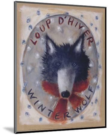 Loup d'Hiver-Jo?lle Wolff-Mounted Art Print