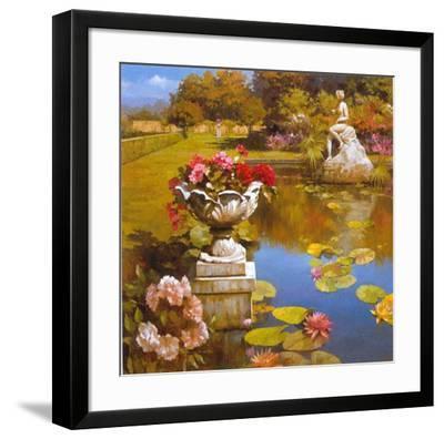 Water Garden II-Spartaco Lombardo-Framed Art Print