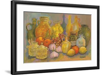 Mediterranean Kitchen II-Karel Burrows-Framed Art Print