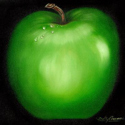 Green Apple-Nelly Arenas-Art Print
