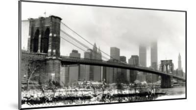 Brooklyn Bridge in Snow-Igor Maloratsky-Mounted Art Print