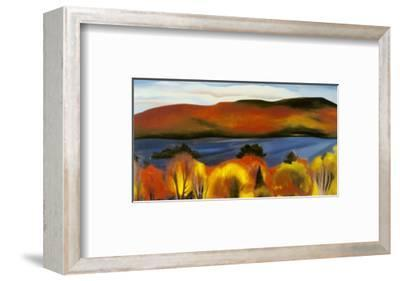 Lake George, Autumn, 1927-Georgia O'Keeffe-Framed Art Print