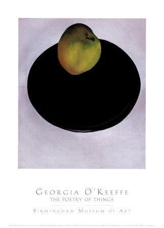 Green Apple on Black Plate, 1922-Georgia O'Keeffe-Framed Art Print