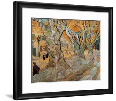 The Road Menders, c.1889-Vincent van Gogh-Framed Art Print