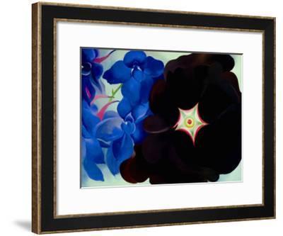 Black Hollyhock Blue Larkspur, 1930-Georgia O'Keeffe-Framed Art Print