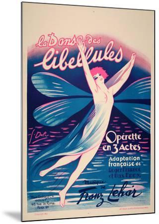 La Danse des Libellules (c.1926)-Georges Dola-Mounted Collectable Print