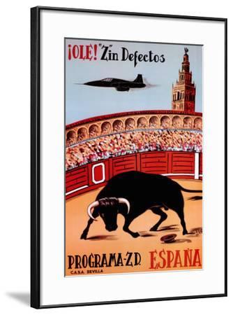 "Ole! ""Z""in Defectos--Framed Art Print"