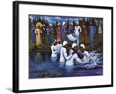 The Baptism-Don Reasor-Framed Art Print