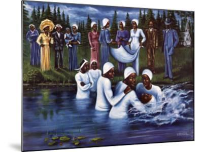 The Baptism-Don Reasor-Mounted Art Print