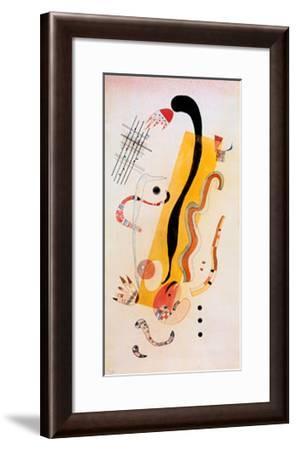 Crawling-Wassily Kandinsky-Framed Art Print