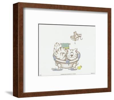 Bathroom Cats IV-A^ Langston-Framed Art Print