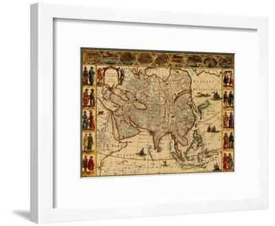 Antique Maps III-Willem Janszoon Blaeu-Framed Art Print