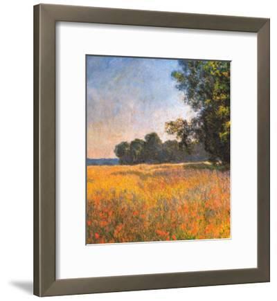 Oat Fields-Claude Monet-Framed Art Print