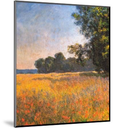 Oat Fields-Claude Monet-Mounted Art Print