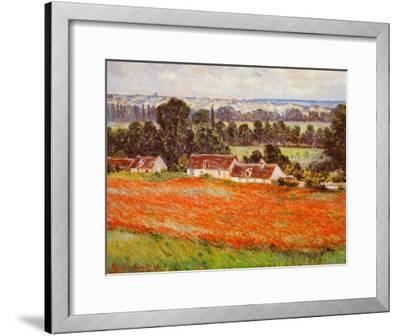 Field of Poppies-Claude Monet-Framed Art Print