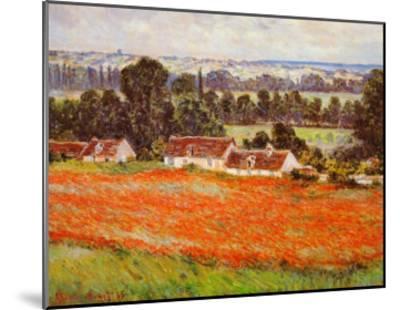 Field of Poppies-Claude Monet-Mounted Art Print