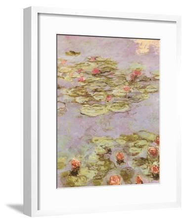 Red Water Lilies-Claude Monet-Framed Art Print