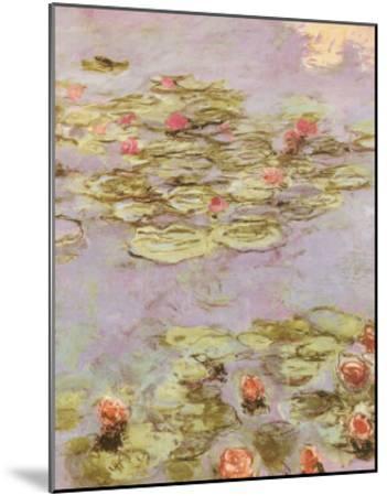 Red Water Lilies-Claude Monet-Mounted Art Print