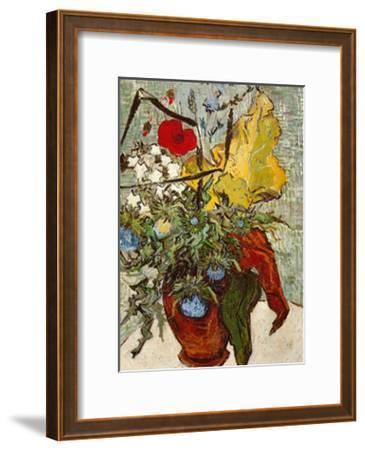Vase of Poppies-Vincent van Gogh-Framed Art Print