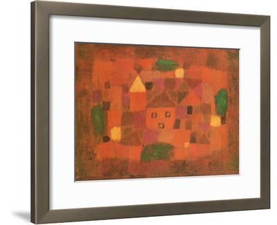 Paesaggio al Tramonto, c.1923-Paul Klee-Framed Art Print