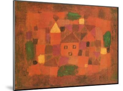 Paesaggio al Tramonto, c.1923-Paul Klee-Mounted Art Print