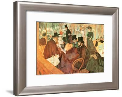Le Moulin Rouge-Henri de Toulouse-Lautrec-Framed Art Print
