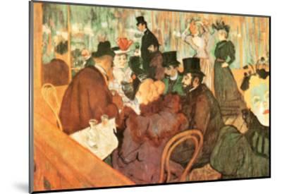 Le Moulin Rouge-Henri de Toulouse-Lautrec-Mounted Art Print