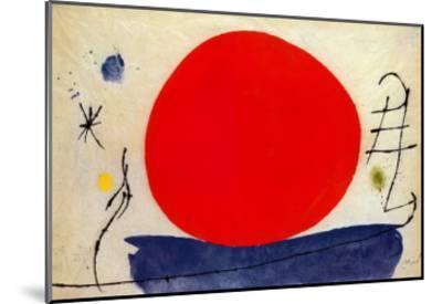 The Red Sun-Joan Mir?-Mounted Art Print