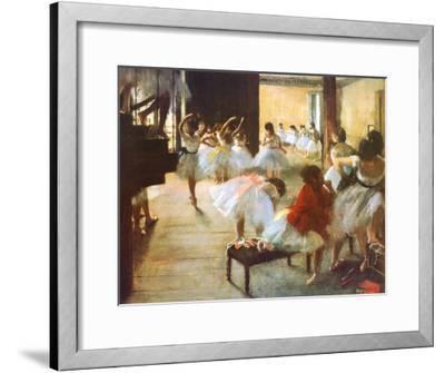 Ecole de Danse-Edgar Degas-Framed Art Print