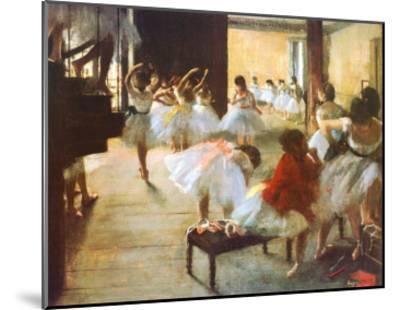 Ecole de Danse-Edgar Degas-Mounted Art Print