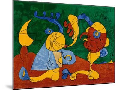 Adlige In Der Fallgrube-Joan Mir?-Mounted Art Print