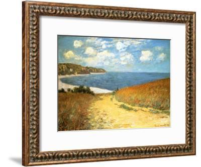 Path Through the Corn at Pourville, 1882-Claude Monet-Framed Art Print