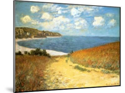 Path Through the Corn at Pourville, 1882-Claude Monet-Mounted Art Print