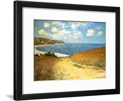 Path Through the Corn at Pourville, 1882-Claude Monet-Framed Art Print