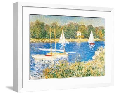 Bassin d'Argenteuil, c.1874-Claude Monet-Framed Art Print