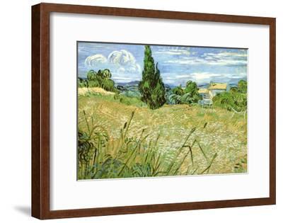 Wheatfield with Cypresses, c.1889-Vincent van Gogh-Framed Art Print