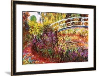 The Japanese Bridge-Claude Monet-Framed Art Print