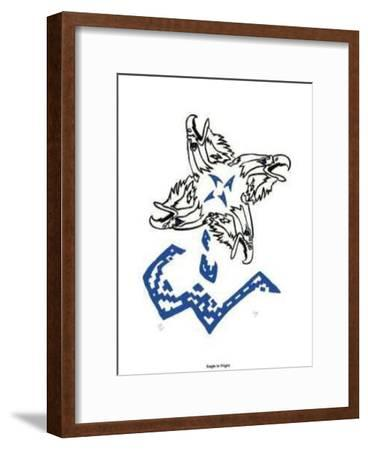 Eagle in Flight--Framed Limited Edition