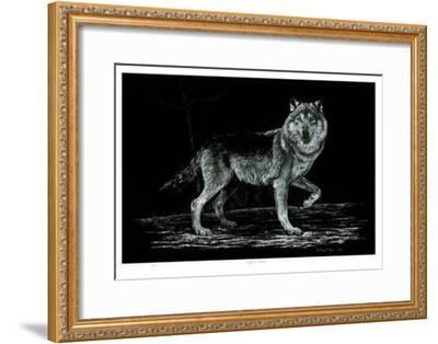 Wolf on Alert-Robert Pow-Framed Limited Edition