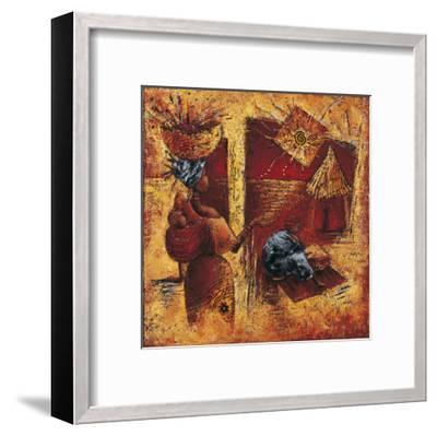 Touche la Lumiere-Isabelle Vital-Framed Art Print