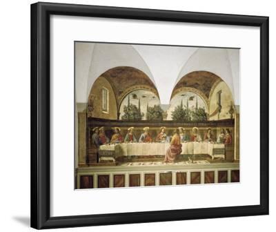 Last Supper-Domenico Ghirlandaio-Framed Art Print