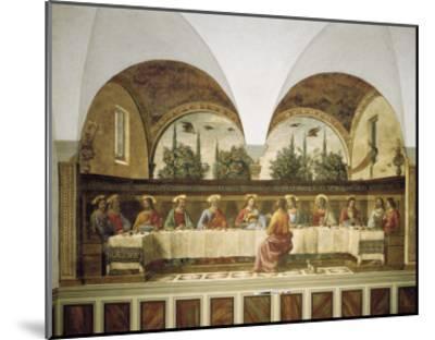 Last Supper-Domenico Ghirlandaio-Mounted Art Print