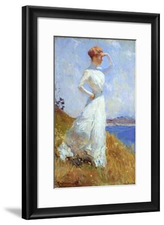 Sunlight-Frank Weston Benson-Framed Art Print