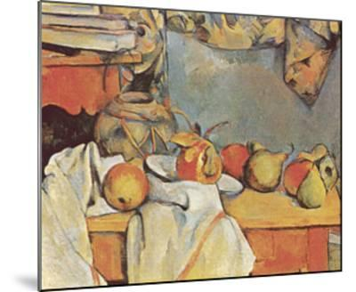 Fruit-Paul C?zanne-Mounted Art Print