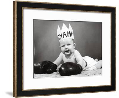 The Champ--Framed Art Print